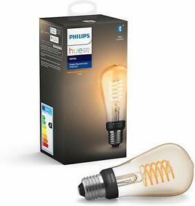 Philips hue ampoule led connectée blanc filament e27 forme