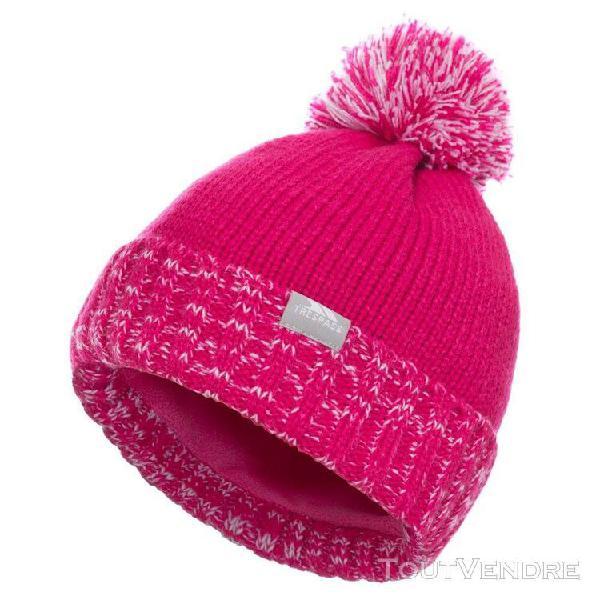 Trespass - bonnet à pompon nefti - enfant (rose) - uttp4278