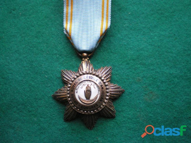 Ordre de l'etoile d'anjouan   order of the star of anjouan
