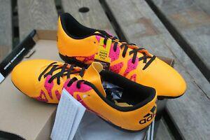 Chaussures football adidas perf x15.4 fxg j orange fuchsia -