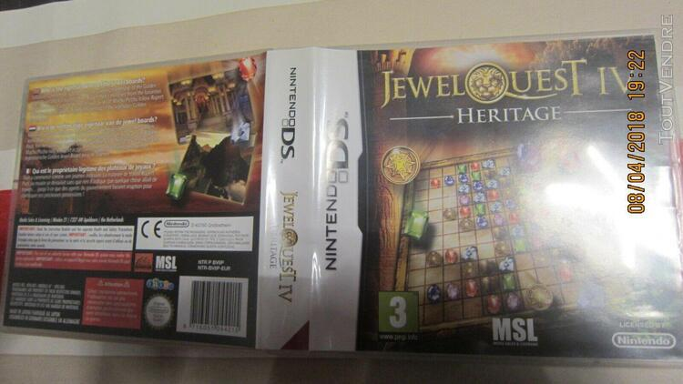 Nintendo ds jewel quest 4 heritage 2ds 3ds