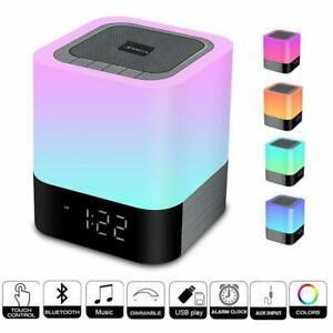 Enceinte haut-parleur bluetooth portable lampe de chevet led
