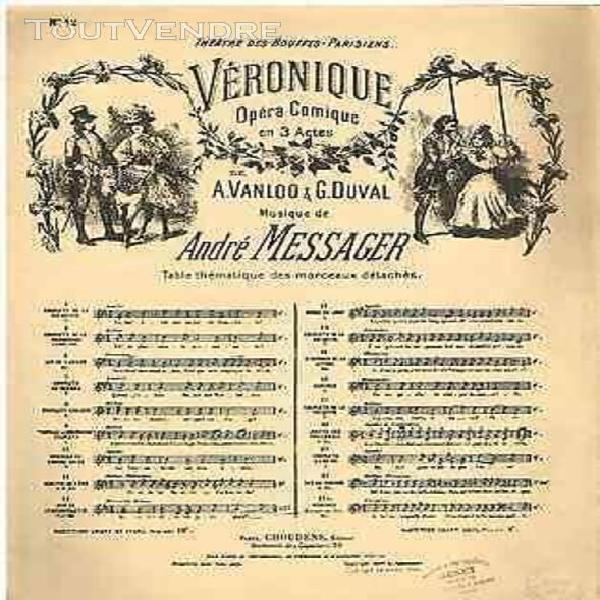 Messager véronique duetto de l'âne - partition chant &