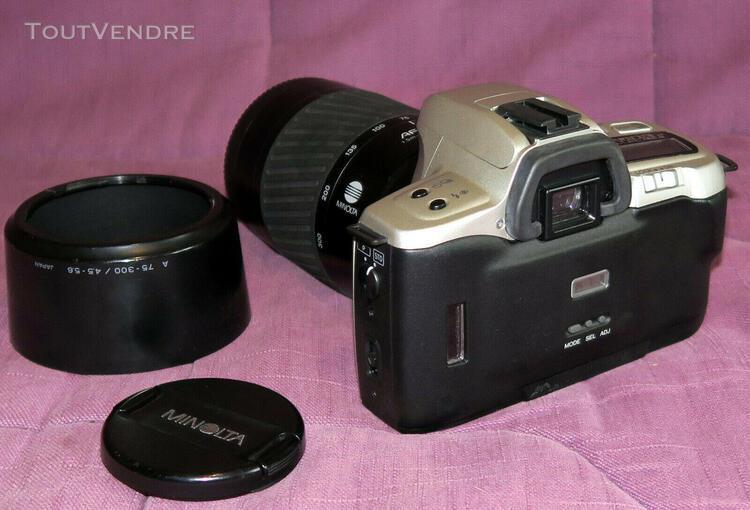 Minolta dynax 360 si avec un zoom minolta 75 - 300 mm 1: 4,5