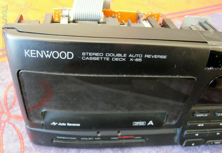 Platine double cassette jvc x-85 – mécanismes et façade