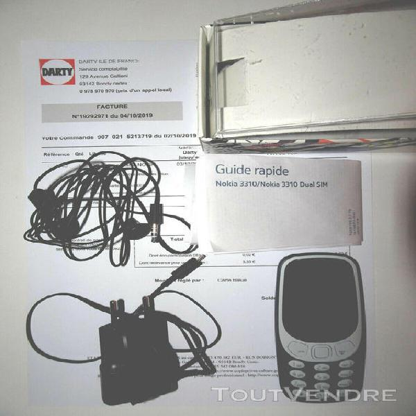 Téléphone portable nokia 3310 (2017) bleu désimlocké