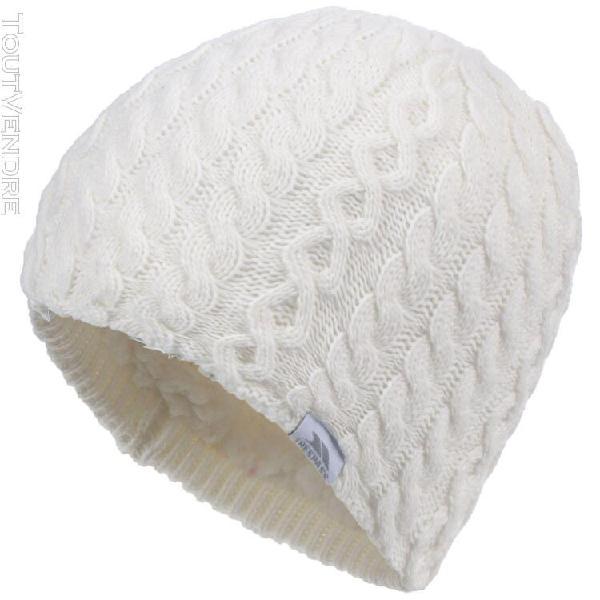 Trespass kendra - bonnet tricoté - femme (blanc) - uttp685