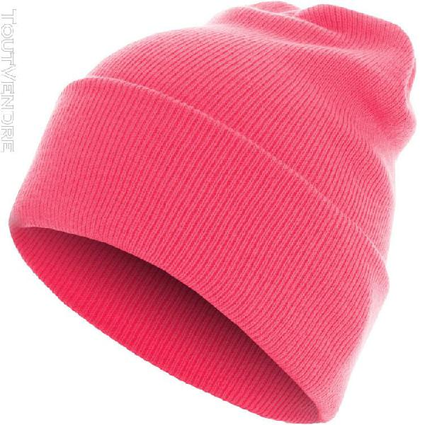 Urban classics beanie bonnet - basic flap long noir