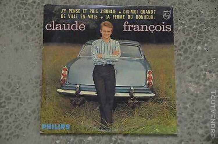 """Claude françois - cd single """"ep"""" """"j'y pense et puis"""