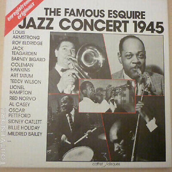 Coffret 3 lp 33t the famous esquire jazz concert 1945 excel
