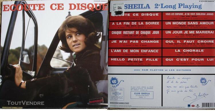 Sheila vinyle sp 33 tours réédition ecoute ce disque