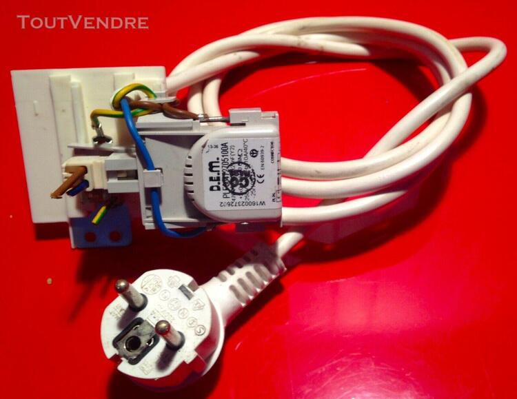Indesit iwc71451c - cable alimentation et filtre condensateu