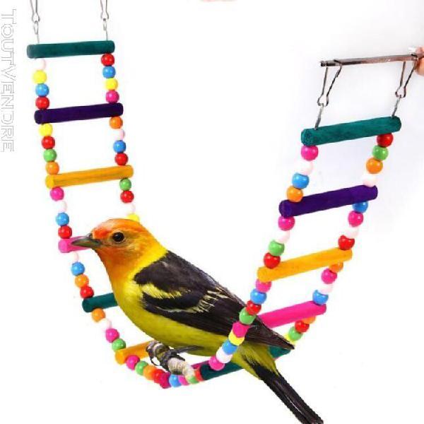 12 couche perroquets oiseaux échelle flexible pont tournant