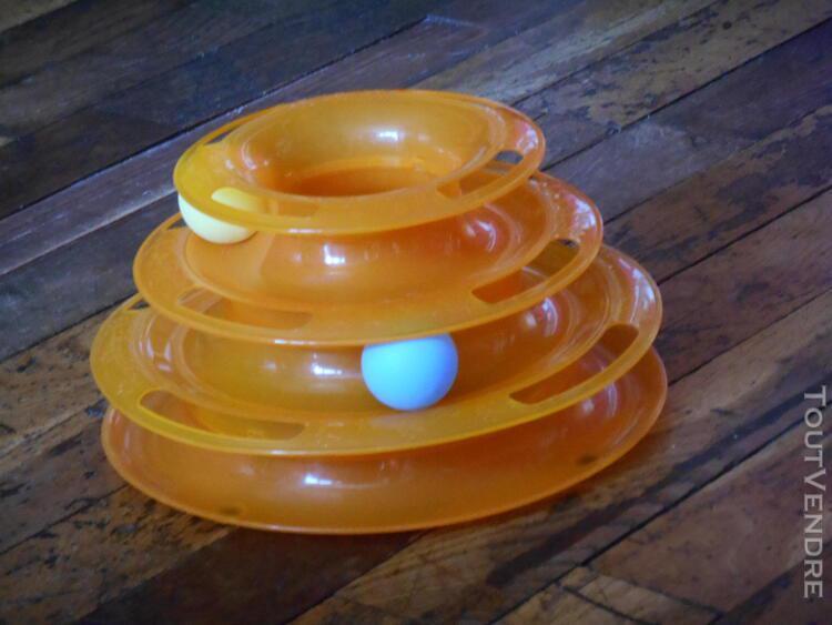 Jeux labyrinthe avec trois balles de couleurs pour animaux