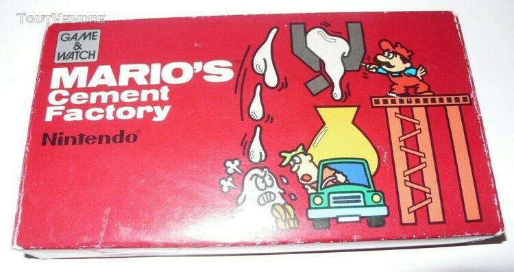 boîte vide originale - game & watch - mario cement factory