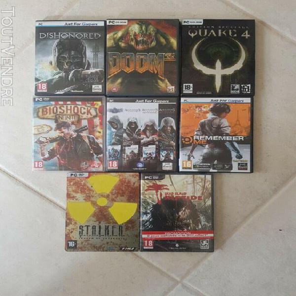 Bundle jeux vidéo pc emblématique très bonne état