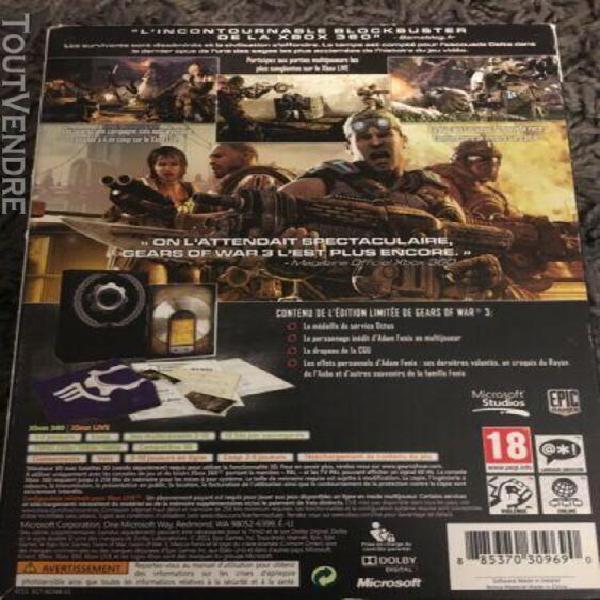 Gears of war 3 edition limitée xbox 360
