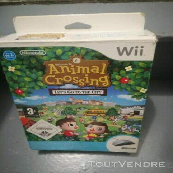 Jeux coffret collector animal crossing nintendo wii
