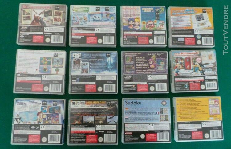 Lot de 12 jeux nintendo ds et 3ds