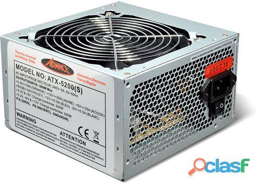 Alimentation PC 500 W Advance ATX 5200S pour PC ATX 2