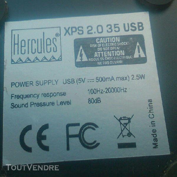 Enceinte pc hercules xps 2.0 35 usb