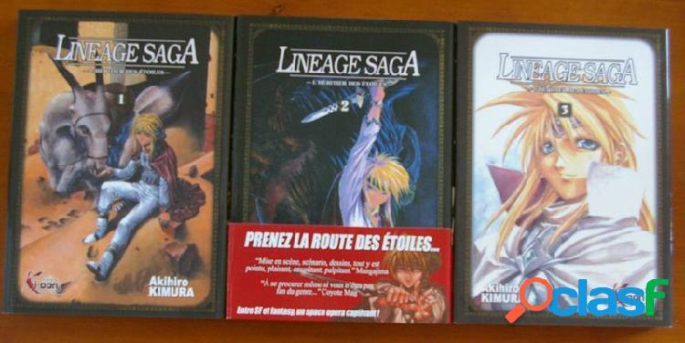 Lineage saga 3 tomes (complet), akihiro kimura