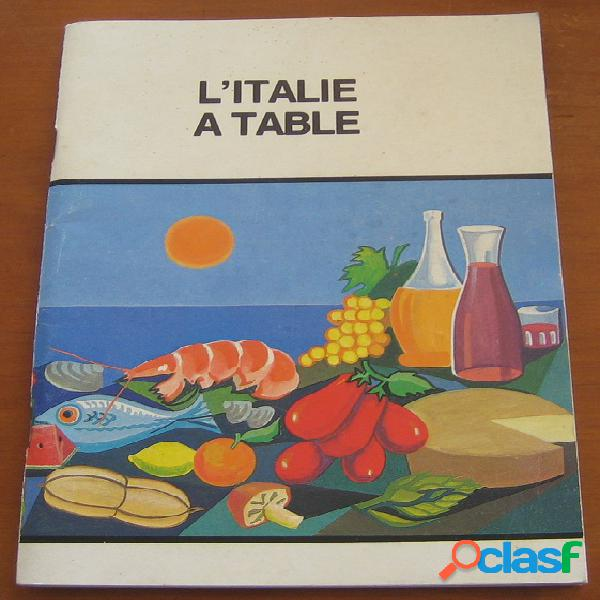 L'italie à table, giorgio lilli latino