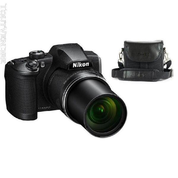 Nikon appareil photo bridge coolpix b600 noir + housse