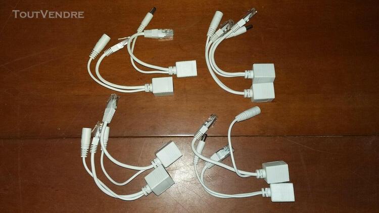 Kit cable poe passif adaptateur injecteur+repartiteur separa