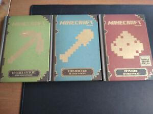 lot 3 livre guide minecraft: construction, guide pour
