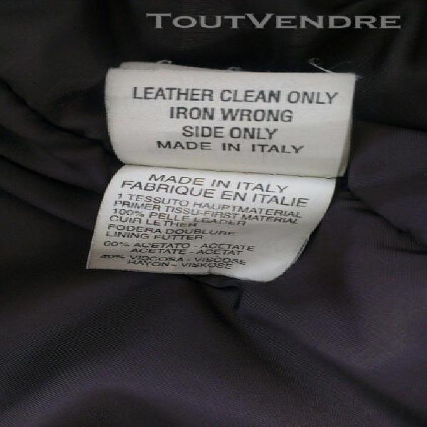 Veste cuir homme cerruti 1881 - taille 48 - made in italy -