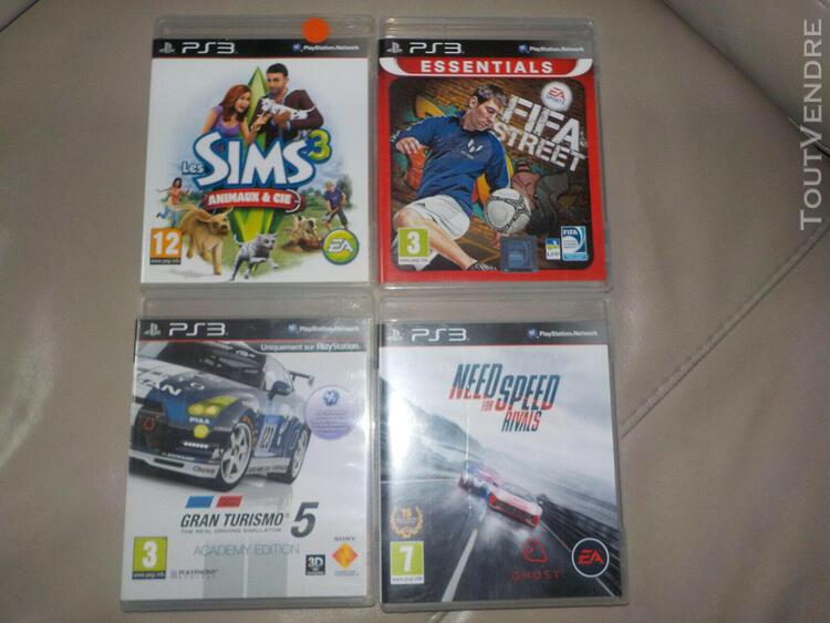 3jeux ps3 playstation *need for speed. gran turismo 5,
