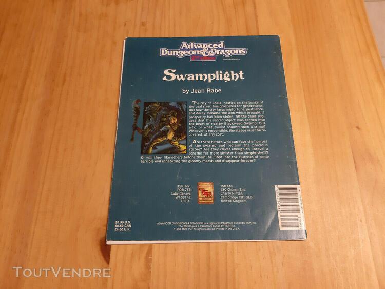 Ad&d 2nd ed ga2 adventure - swamplight - level 7-9 - dungeon