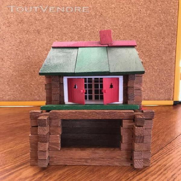 Jeu de construction vintage « maison forestière jeujura