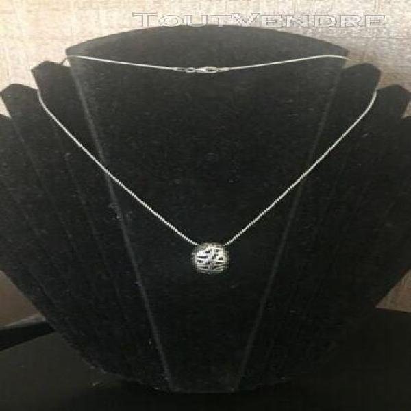 Nina ricci belle chaîne et pendentif argent massif poinçon