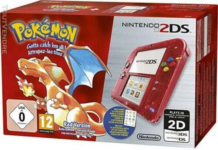 Nintendo 2ds pokémon rouge edition limitée + jeu pokemon