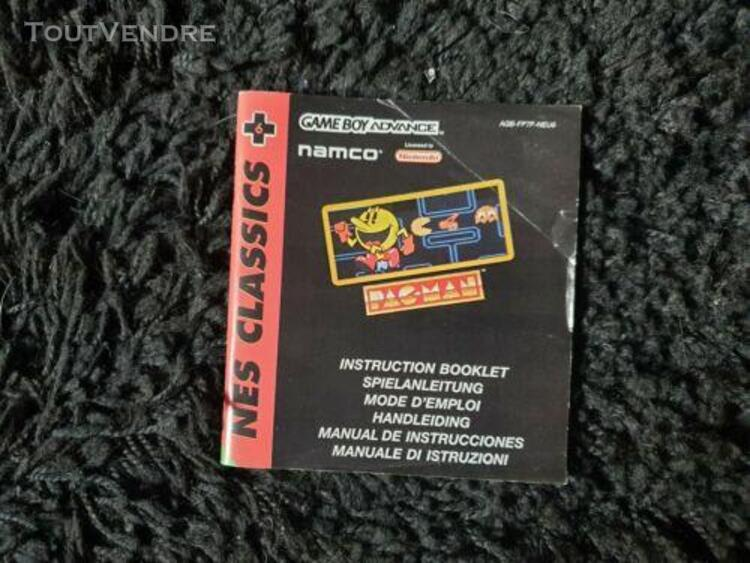 Notice jeux video nintendo gameboy advance pacman nes classi