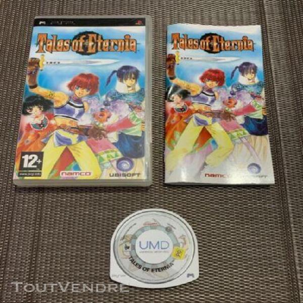 Tales of eternia - jeu sony psp - complet pal eur