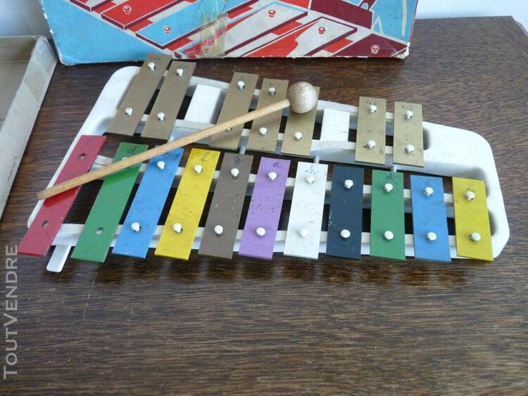 Xylophone ancien 1950 allemagne jouet de collection boite or