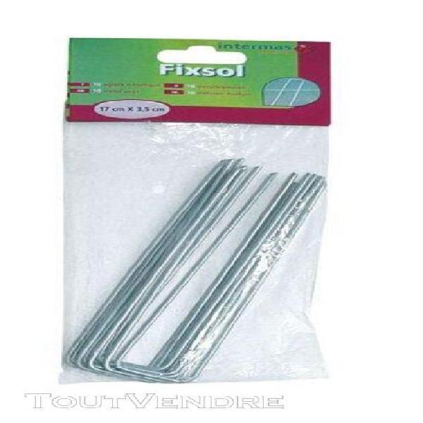 agrafes fixsol métal 17cmx3.5cm x10 sc