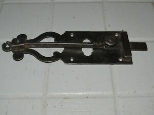 Ancien verrou de porte fer forge targette loquet clenche