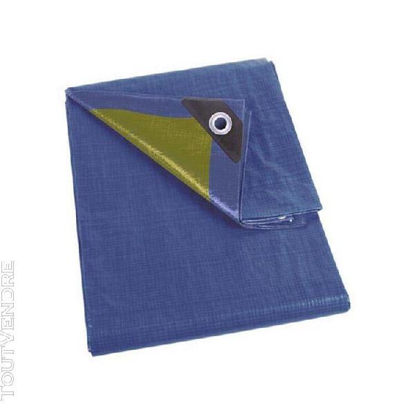 bâche - bleu/kaki - résistant - 2 x 4 m