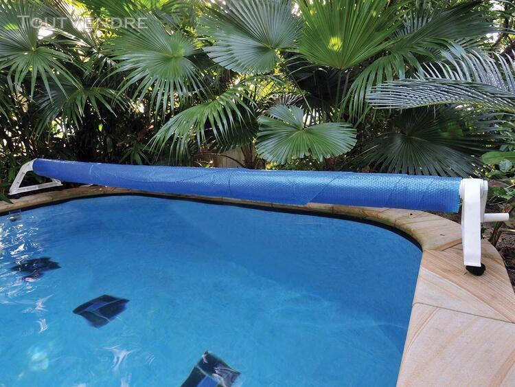 enrouleur de bâche à bulles apollo pour piscine enterrée