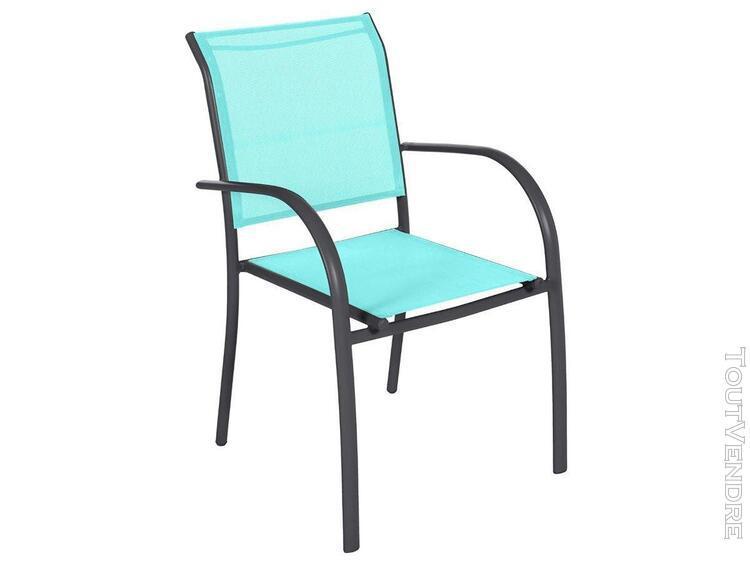 fauteuil de jardin en texaline piazza emeraude/graphite