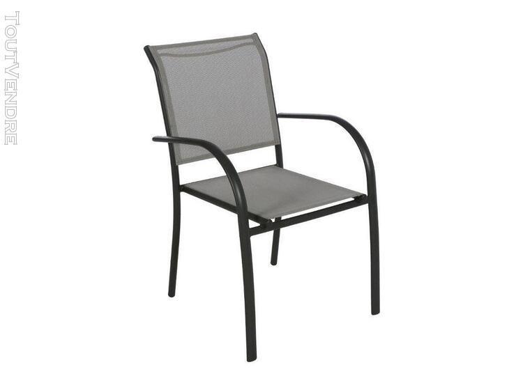 fauteuil de jardin en texaline piazza galet/graphite