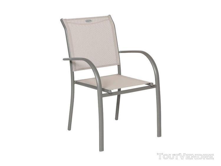 fauteuil de jardin en texaline piazza taupe/mastic