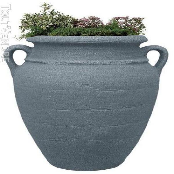 poterie antik gris - 80cm - Ø52 cm