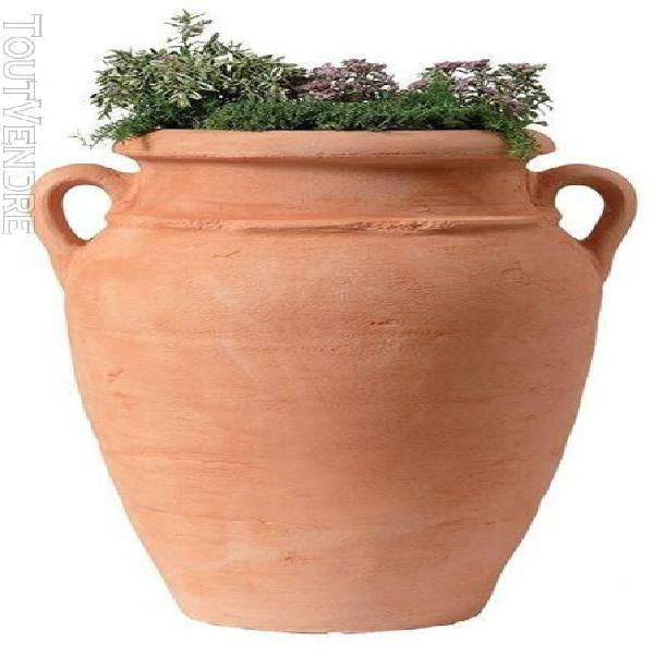 poterie antik terracotta - 80cm - Ø52 cm