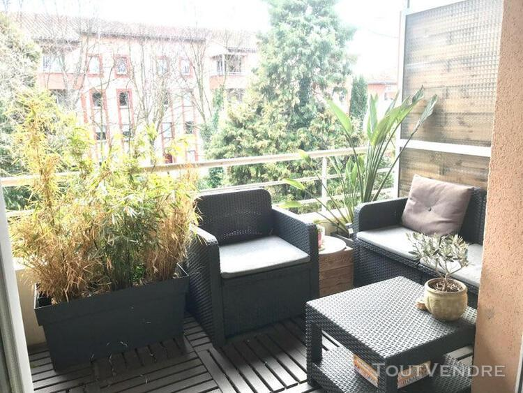 Toulouse - croix daurade - t3 de 61 m2 avec terrasse et park