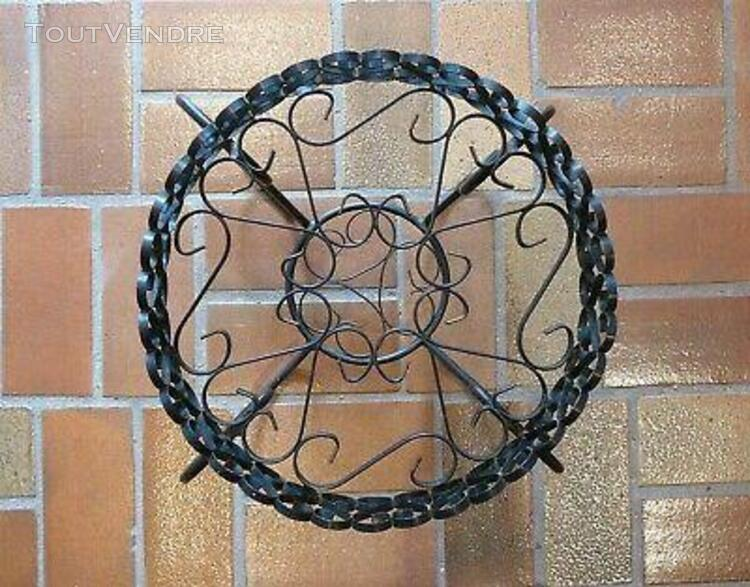Vintage gueridon table basse fer forgé wrought iron round